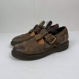 Dr. Martens Brown Polley Leather Distressed US 7